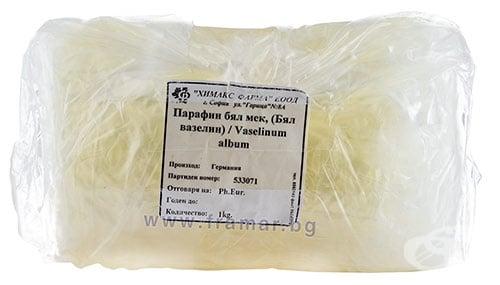 Изображение към продукта МЕК ПАРАФИН (БЯЛ МЕК ВАЗЕЛИН) 1 кг