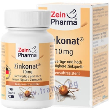 Изображение към продукта ЗЕИН ФАРМА ЦИНК капсули 10 мг * 90
