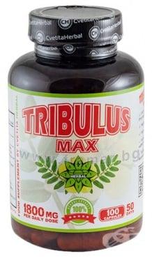 Изображение към продукта ТРИБУЛУС МАКС капсули 900 мг * 100 ЦВЕТИТА ХЕРБАЛ