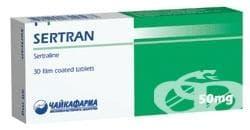СЕРТРАН табл. 50 мг. * 30  ЧАЙКАФАРМА - изображение
