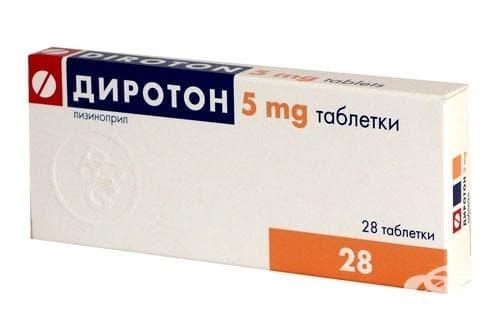 Изображение към продукта ДИРОТОН табл. 5 мг. * 28 GEDEON RICHTER