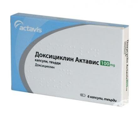 Изображение към продукта ДОКСИЦИКЛИН капс. 100 мг. * 6 ACTAVIS