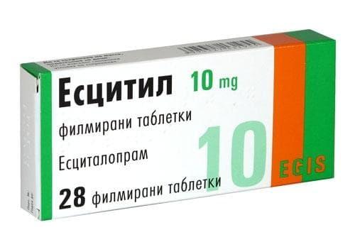 ЕСЦИТИЛ табл. 10 мг. * 28 - изображение