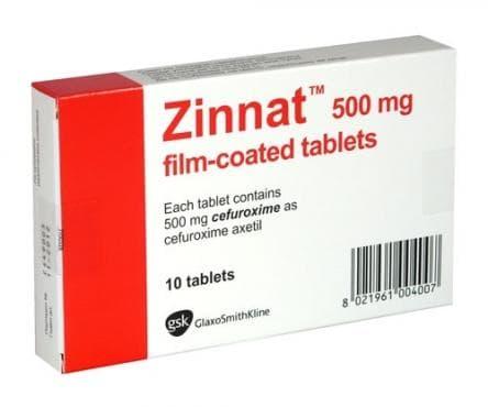 ЗИНАТ табл. 500 мг. * 10 - изображение