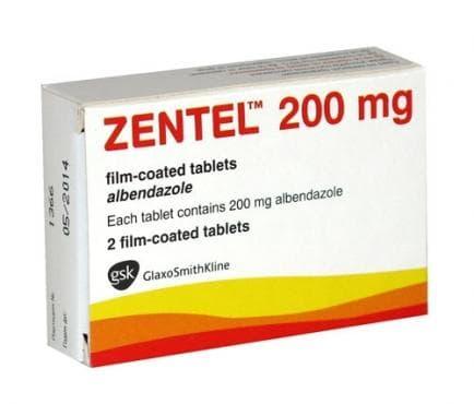 ЗЕНТЕЛ табл. 200 мг. * 2 - изображение