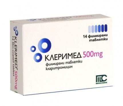 КЛЕРИМЕД табл. 500 мг. * 14 - изображение