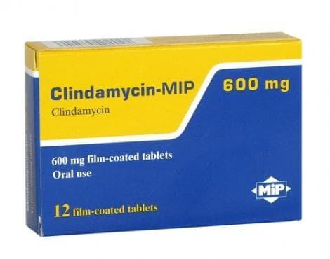 КЛИНДАМИЦИН табл. 600 мг.* 12  МИП ФАРМА - изображение