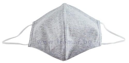 Изображение към продукта АНТИБАКТЕРИАЛНА МАСКА ЗА ЛИЦЕ ОТ ПЛАТ размер L - XL * 1