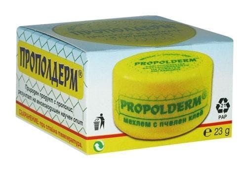 Изображение към продукта ПРОПОЛДЕРМ мехлем с пчелен клей 23 гр.