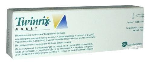 Изображение към продукта ТУИНРИКС ВАКСИНА ЗА ХЕПАТИТ А - В ЗА ВЪЗРАСТНИ