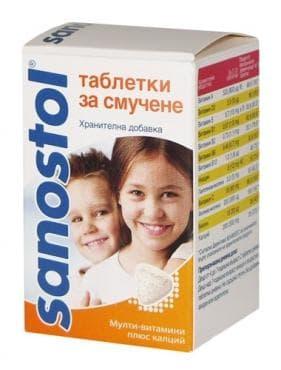 Изображение към продукта САНОСТОЛ  табл. витамини  * 30