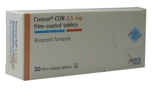 Изображение към продукта КОНКОР КОР таблетки 2.5 мг * 30