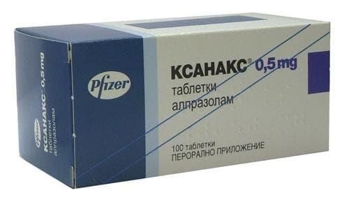 Изображение към продукта КСАНАКС таблетки 0.5  мг. * 100