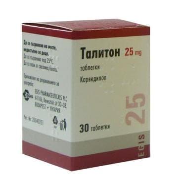 ТАЛИТОН табл. 25 мг. * 30 - изображение