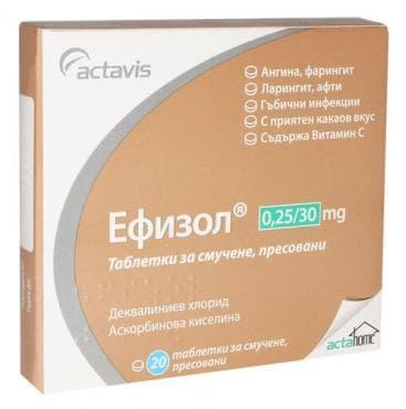 ЕФИЗОЛ табл. 250 мг. * 20 - изображение
