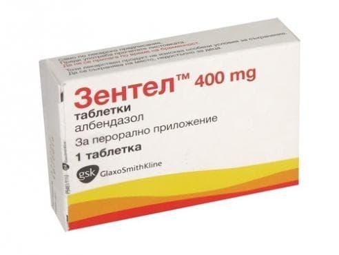 ЗЕНТЕЛ табл. 400 мг. * 1 - изображение