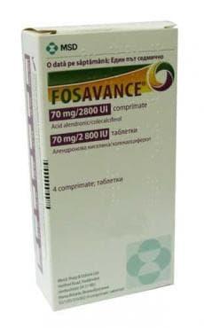 Изображение към продукта ФОЗАВАНС таблетки 70 мг / 2800 UI * 4