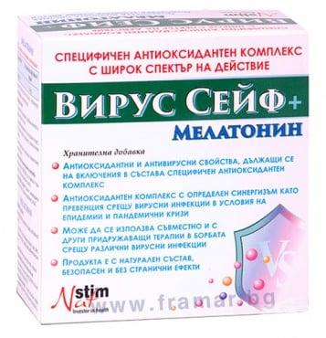 Изображение към продукта ВИРУС СЕЙФ таблетки * 60 + МЕЛАТОНИН таблетки * 20 НАТСТИМ
