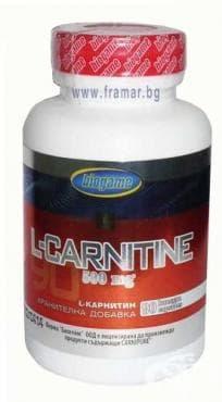 Изображение към продукта БИОГЕЙМ L - КАРНИТИН капс.  500 мг. * 90