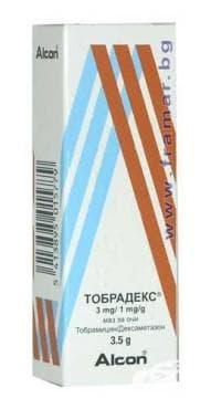 Изображение към продукта ТОБРАДЕКС унгв. офталмик 3.5 гр.
