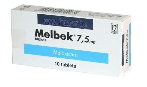 МЕЛБЕК табл. 7.5 мг. * 10 - изображение
