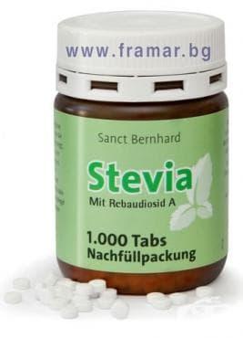 Изображение към продукта СТЕВИЯ табл. * 1000 SANCT BERNHARD