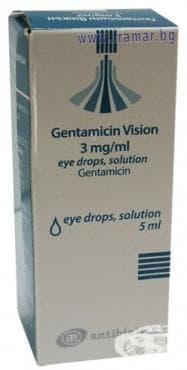 Изображение към продукта ГЕНТАМИЦИН колир 5 мл.