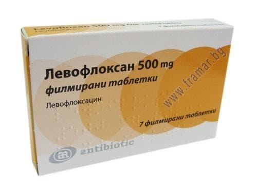 ЛЕВОФЛОКСАН табл. 500 мг. * 7 - изображение