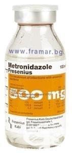 Изображение към продукта МЕТРОНИДАЗОЛ фл.  500 мг. 100 мл.