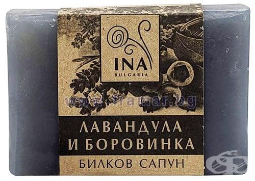 Изображение към продукта ИНА ЕСЕНШЪЛС БИЛКОВ САПУН ЛАВАНДУЛА И БОРОВИНКА 105 г
