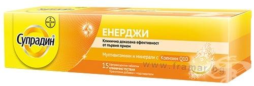 Изображение към продукта СУПРАДИН ЕНЕРДЖИ ефервесцентни таблетки * 15 BAYER