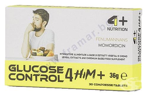 Изображение към продукта 4+ НУТРИШЪН ГЛЮКОЗА КОНТРОЛ ЗА МЪЖЕ+ таблетки * 30
