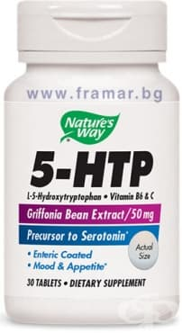Изображение към продукта 5 - ХИДРОКСИТРИПТОФАН (5 - HTP) таблетки 50 мг * 30 NATURE'S WAY