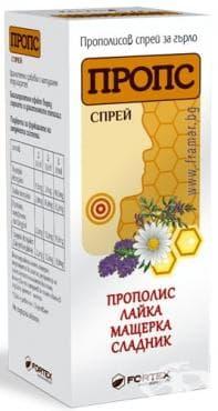 Изображение към продукта ПРОПС СПРЕЙ ЗА ГЪРЛО 30 мл.