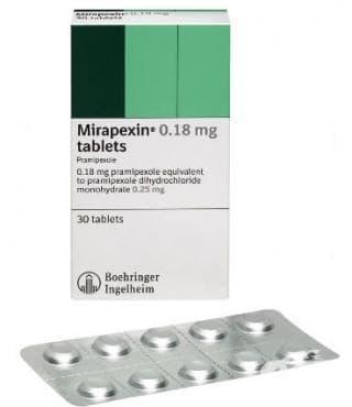 МИРАПЕКСИН табл. 0.18 мг * 30 - изображение