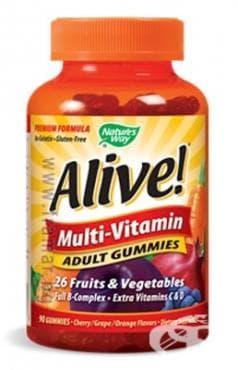 Изображение към продукта АЛАЙВ МУЛТИВИТАМИНИ ЗА ВЪЗРАСТНИ желирани таблетки * 90 NATURE'S WAY
