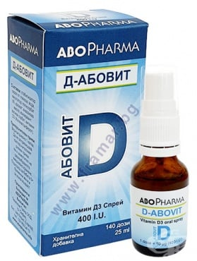 Изображение към продукта АБОФАРМА Д - АБОВИТ ВИТАМИН D3 400 IU спрей 140 дози 25 мл