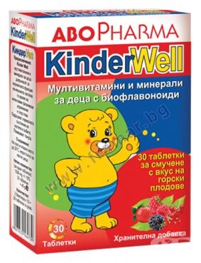 Изображение към продукта АБОФАРМА МУЛТИВИТАМИНИ И МИНЕРАЛИ ЗА ДЕЦА таблетки за смучене * 30