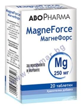 Изображение към продукта АБОФАРМА МАГНЕФОРС таблетки 250 мг * 20