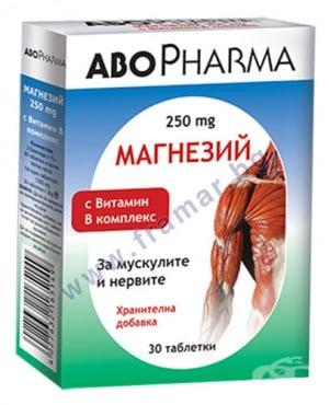 Изображение към продукта АБОФАРМА МАГНЕЗИЙ + ВИТАМИН B КОМПЛЕКС таблетки * 30