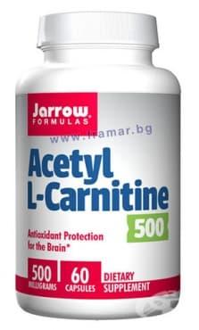 ДЖАРОУ ФОРМУЛАС АЦЕТИЛ L-КАРНИТИН капсули 500 мг. * 60 - изображение