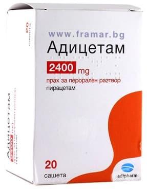 Изображение към продукта АДИЦЕТАМ саше 2400 мг * 20