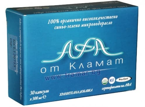 АФА ОТ КЛАМАТ капсули 300 мг. * 30 ЗЛАТНАТА ЯБЪЛКА - изображение