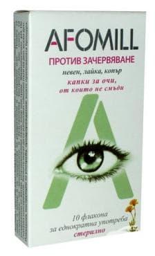АФОМИЛ капки за очи против зачервяване флакон 0.5 мл. * 10 - изображение