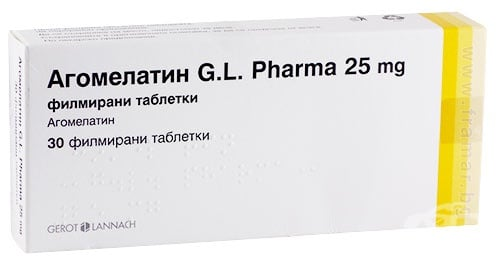 Изображение към продукта АГОМЕЛАТИН G. L. таблетки 25 мг * 30