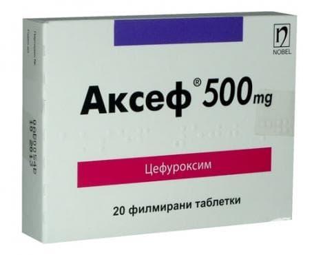 Изображение към продукта АКСЕФ таблетки 500 мг * 20 НОБЕЛ