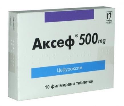 Изображение към продукта АКСЕФ таблетки 500 мг * 10 НОБЕЛ