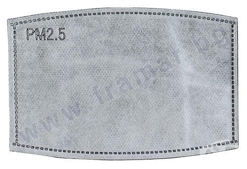 Изображение към продукта ФИЛТЪР ЗА ЗАЩИТНА МАСКА PM 2.5 С АКТИВЕН ВЪГЛЕН * 1
