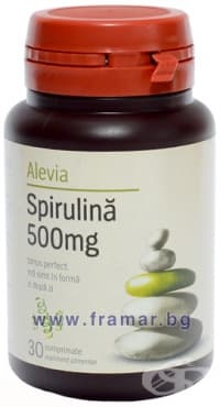 АЛЕВИА СПИРУЛИНА таблетки 500 мг. * 30 - изображение