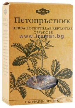 Изображение към продукта АЛИН ЧАЙ ПЕТОПРЪСТНИК СТРЪКОВЕ 50 гр.